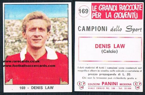 1966 Denis Law #169 Panini Man U